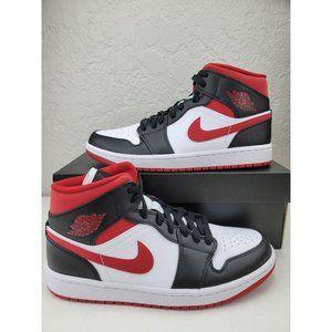 Nike Air Jordan 1 Mid Metallic Gym Red/Black/White